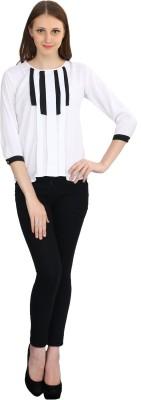 IKL Casual 3/4 Sleeve Solid Women's Multicolor Top