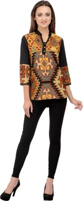Rumara Casual 3/4 Sleeve Printed Women's Multicolor Top