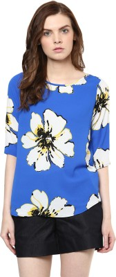 Avirate Casual 3/4 Sleeve Floral Print Women's Multicolor Top
