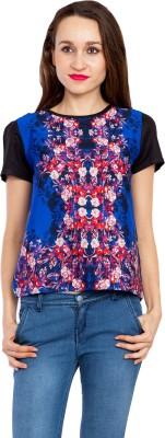 Kridh Casual Sleeveless Printed Women's Multicolor Top