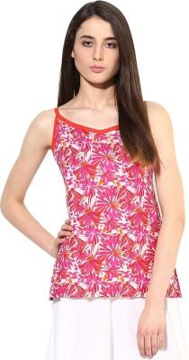 JaipurKurti Casual Sleeveless Floral Print Women's Pink Top