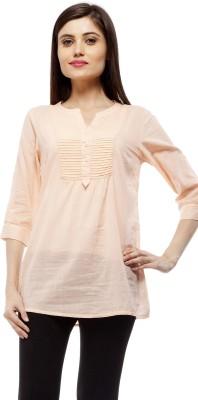 Stylestone Casual, Formal, Lounge Wear, Beach Wear, Party 3/4 Sleeve Solid Women's Pink Top