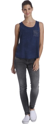 Only Casual Sleeveless Embellished Women's Blue Top
