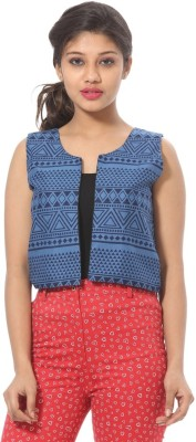 Abony Casual Sleeveless Printed Women's Multicolor Top