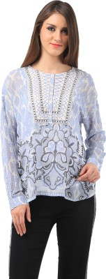 Chic Crowd Casual Full Sleeve Printed Women's Multicolor Top