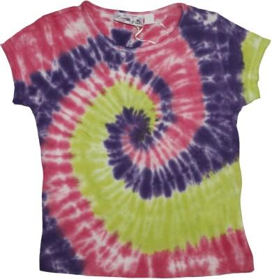 Mankoose Formal Short Sleeve Printed Girl's Purple, Pink Top