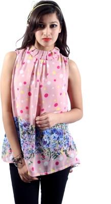 Envy Casual Sleeveless Polka Print Women's Pink, White, Blue, Yellow Top
