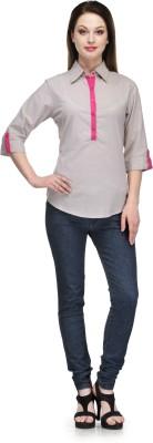 Glamdiva Lounge Wear 3/4 Sleeve Printed Women's Pink Top