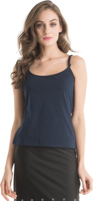 Kazo Casual Sleeveless Solid Women's Blue Top
