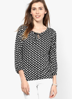 Mayra Party 3/4th Sleeve Printed Women's Multicolor Top at flipkart