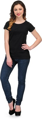 Rockland Life Casual Short Sleeve Solid Women's Black Top