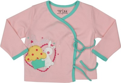 Mom & Me Casual Full Sleeve Printed Baby Girl's Pink Top