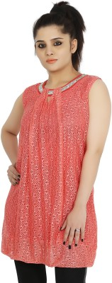 Sringar Casual Sleeveless Solid Women's Red Top