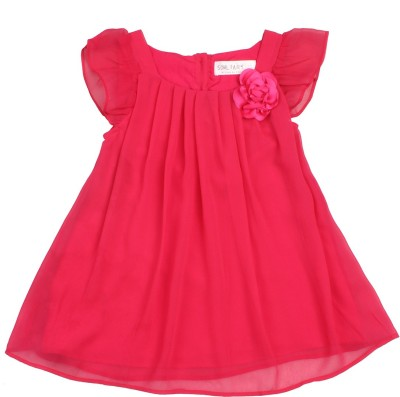 Soul Fairy Party Cap sleeve Solid Girl's Orange Top