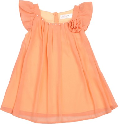 Soul Fairy Party Cap sleeve Solid Girl's Pink Top