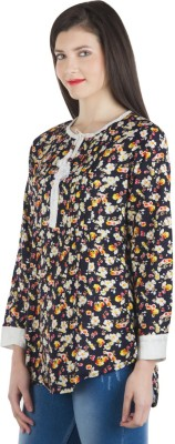 FASHIONHOLIC Casual 3/4 Sleeve Floral Print Women's Multicolor Top