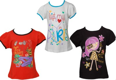 Little Star Casual Short Sleeve Printed Girl's Multicolor Top