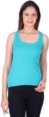 99DailyDeals Casual Sleeveless Solid Girl's Light Blue Top
