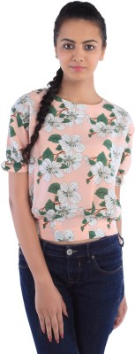 Dewberries Formal Short Sleeve Printed Women's Multicolor Top