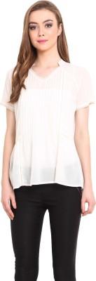 Femenino Casual Short Sleeve Solid Women's White Top