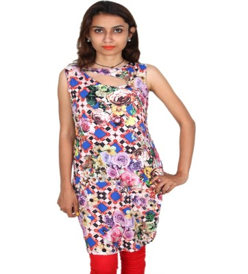 Vanya Enterprises Casual Sleeveless Printed Women's Multicolor Top