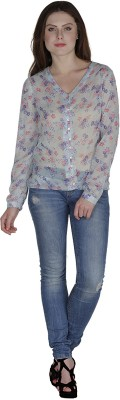 Divas Casual Full Sleeve Printed Women's Multicolor Top