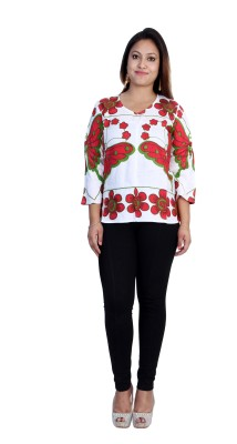 Rich Creations Casual, Party 3/4 Sleeve Printed Women's Multicolor Top