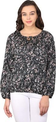 Nordic Bazaar Casual Short Sleeve Printed Women's Multicolor Top