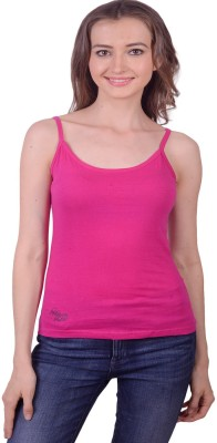 Lee Marc Casual Noodle strap Solid Women's Pink Top