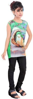 JAY BHAVANI FASHION Casual Short Sleeve Printed Women's Multicolor Top