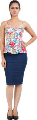 Prnas Casual Sleeveless Floral Print Women's Multicolor Top