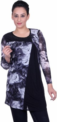 Sellsy Casual Full Sleeve Printed Women's Blue Top