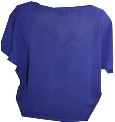 SAP Casual Short Sleeve Solid Girl's Blue Top