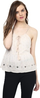 Rose Vanessa Casual Sleeveless Printed Women's Pink Top