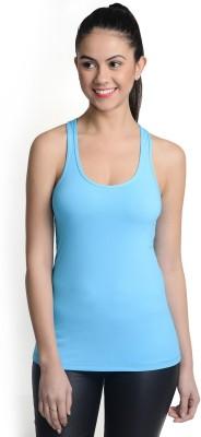La Zoya Sports Sleeveless Solid Women's Light Blue Top