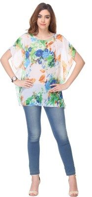 We Desi Party Butterfly Sleeve Printed Women's Multicolor Top