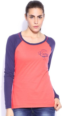 Puma Casual Full Sleeve Solid Women's Red Top