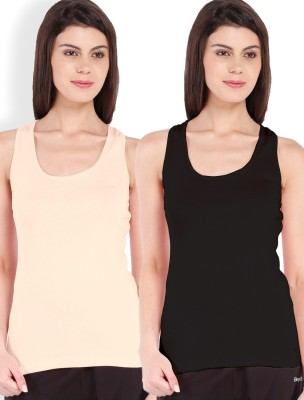 Beyouty Casual Sleeveless Solid Women's Black, Beige Top