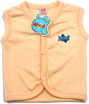Ahad Casual Sleeveless Solid Baby Girl's Orange Top