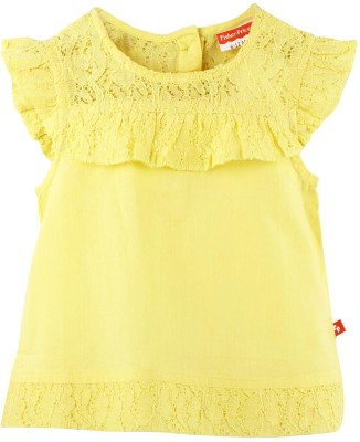 Fisher-Price Casual Cap sleeve Solid Girl's Yellow Top