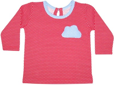Always Kids Casual, Party Full Sleeve Printed Girl's Red Top