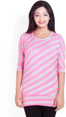 Scarlett Casual 3/4 Sleeve Solid Women's Pink Top