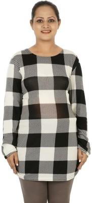 Mamma Mia Casual Full Sleeve Checkered Women,s Multicolor Top