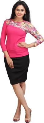 Wear Berry Casual Full Sleeve Striped Women's Pink Top