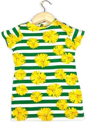 Allen Solly Casual Short Sleeve Printed Girl's Green Top