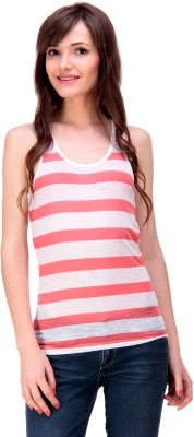 Ebry Casual Sleeveless Striped Girl's Dark Blue Top