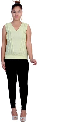Iande Casual Sleeveless Solid Women's Green Top at flipkart