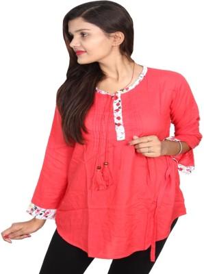 Vanya Enterprises Casual Full Sleeve Solid Women's Red Top