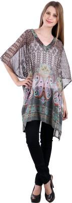 Selfiwear Casual 3/4 Sleeve Printed Women's Multicolor Top