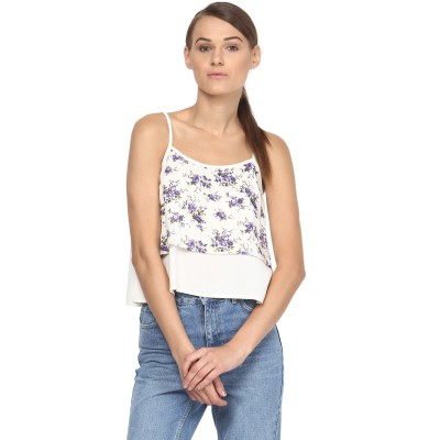 Annapoliss Casual Sleeveless Printed Women's Multicolor Top